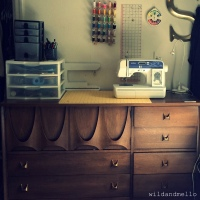 Awesome Dresser Turned Craft Space