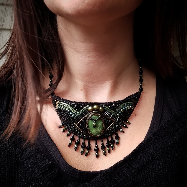 black-and-green-necklace